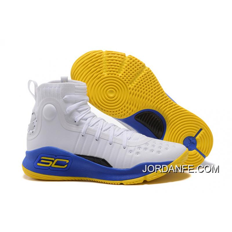 30ff3af4d2dd USD  90.13  279.41. Under Armour Curry 4 Basketball Shoes White Blue Yellow  ...