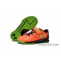 Under Armour Kids Orange Green Shoes Authentic