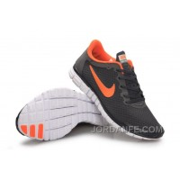 Buy Nike Free 3.0 Women Dark Grey Orange Discount