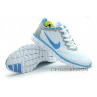 Buy Nike Free 3.0 Women White Grey Blue Lastest