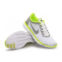 Nike Free 3.0 Women White Grey Green Cheap To Buy