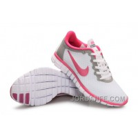 Buy Nike Free 3.0 Women White Grey Red Discount