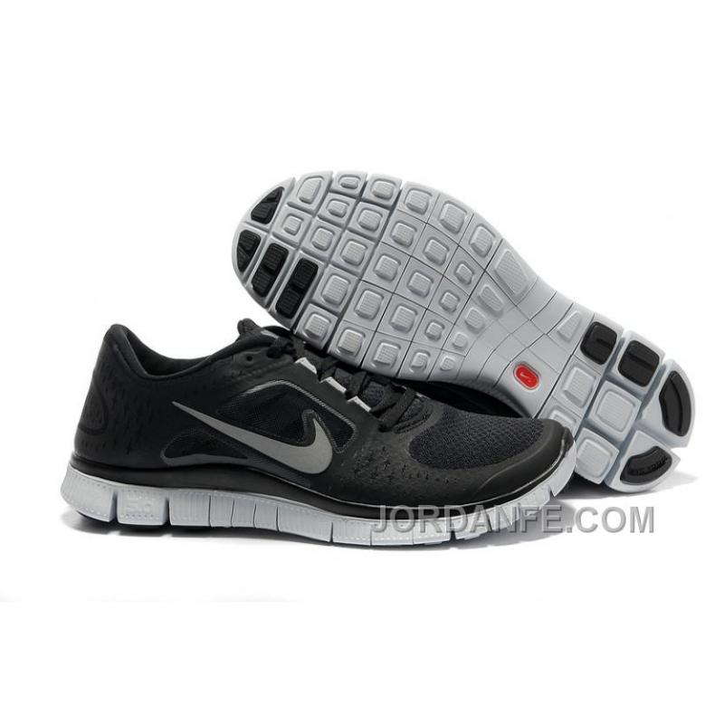 reputable site b50bf 2216d Nike Free 5.0 V4 Black White Silver Discount