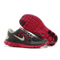 New Nike Free 5.0 V2 Black Grey Red Top Deals