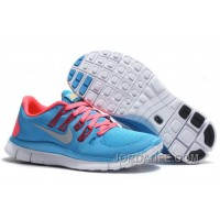 New Nike Free 5.0 V2 Womens Neon Blue Red Discount