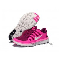 Nike Free 5.0 V2 Rose Red Pink White Super Deals