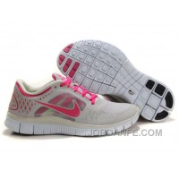 Nike Free Run 3 Light Grey Pink For Sale