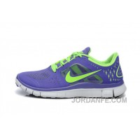 Nike Free Run 3 Purple Blue Green Women Running Shoes Authentic