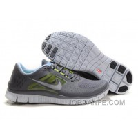 Shop Nike Free Run 3 Grey Light Blue New Release