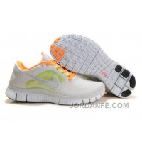 Shop Nike Free Run 3 Light Grey And Orange Discount