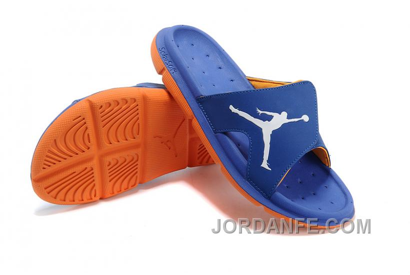 cbf001782c73c Air Jordan RCVR Slide Select Blue Orange Sandals Online
