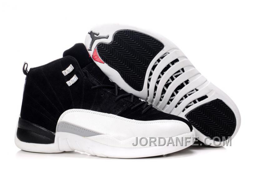 6ffddc96944 Air Jordan 12 Suede Black White Top, Price: $70.11 - Air Jordan ...