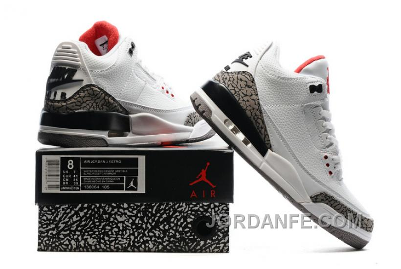 """2f6394cecfb9 2016 Air Jordan 3 """"White Cement"""" For Sale Hot"""