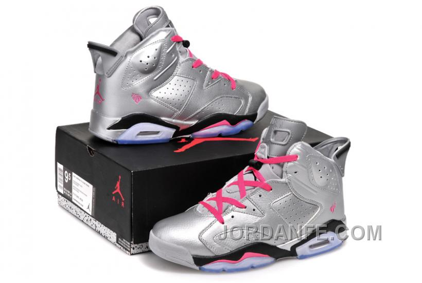 ... inexpensive air jordans 6 retro valentines day metallic silver vivid  pink black for bf227 445fa 6d043cb9c