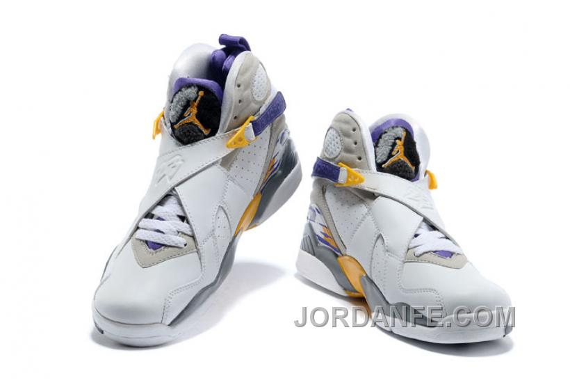 """cdf149ab386ccd Air Jordans 8 Retro """"Kobe Bryant Lakers Home"""" PE For Sale Free Shipping"""