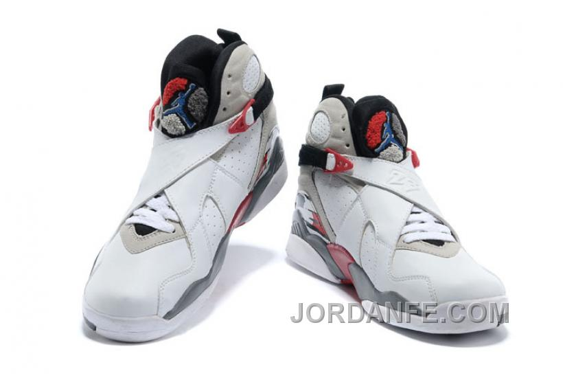"d5761f929f86 Air Jordans 8 Retro ""Bugs Bunny"" White Black-True Red For Sale ..."
