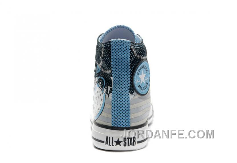 c9d02032879e98 Key Skull Clock Print Blue CONVERSE High Ps Punk Collection Pirate Pattern Canvas  Shoes Cheap To