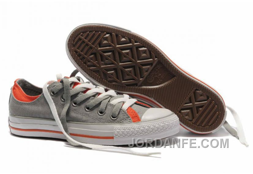 44c490a96a5d Grey Orange CONVERSE Double Upper Tongue All Star Chuck Taylor Tops Canvas  Casual Shoes Online