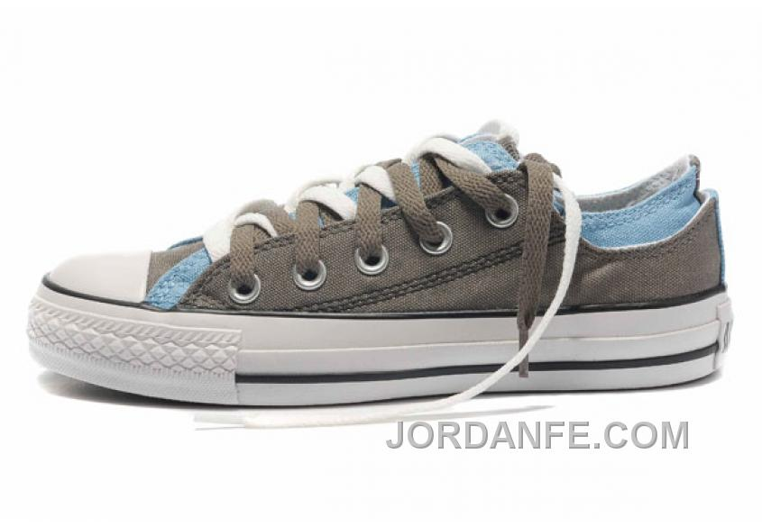 a3138830ceea CONVERSE Double Upper Doule Tongue All Star Grey Blue Tops Canvas Casual  Shoes New Release