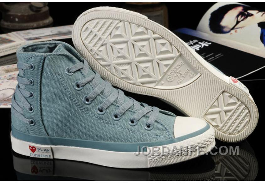 6e3baff6d335 Ultimate Edition Light Blue CONVERSE Comme Des Garcons Play Chuck Tayloar All  Star High Tops Canvas