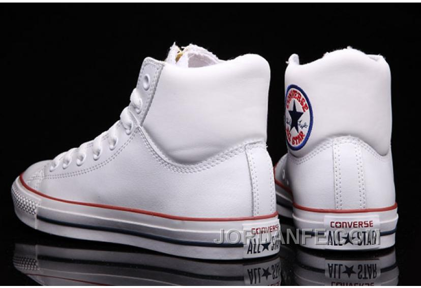 d9c4e10147b46a White CONVERSE Chuck Taylor Embroidery Padded Collar Leather All Star Online