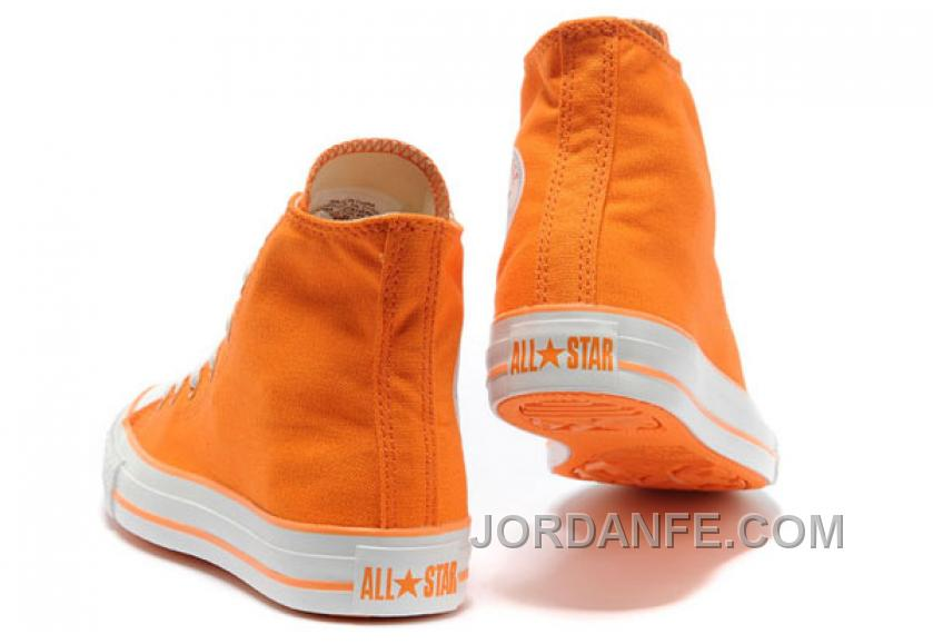 231a427556ef CONVERSE New Color Orange Dazzling Chuck Taylor All Star Canvas Women  Sneakers Authentic