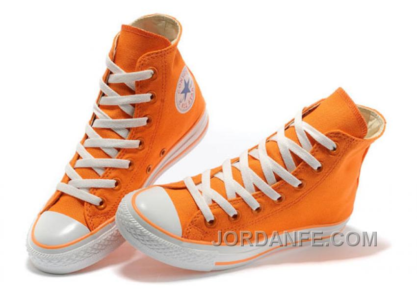 6ab490d9ba8d CONVERSE New Color Orange Dazzling Chuck Taylor All Star Canvas Women  Sneakers Authentic