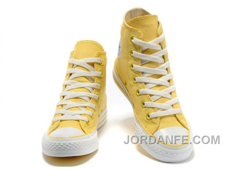 32e2fe182702ed CONVERSE New Color Lemon Yellow Chuck Taylor All Star Canvas Women Shoes  Cheap To Buy