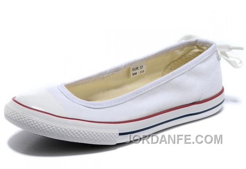 2c3139a2614c44 CONVERSE All Star Light Summer White Ballet Flats Dainty Ballerina Canvas  Ladies Shoes Cheap To Buy