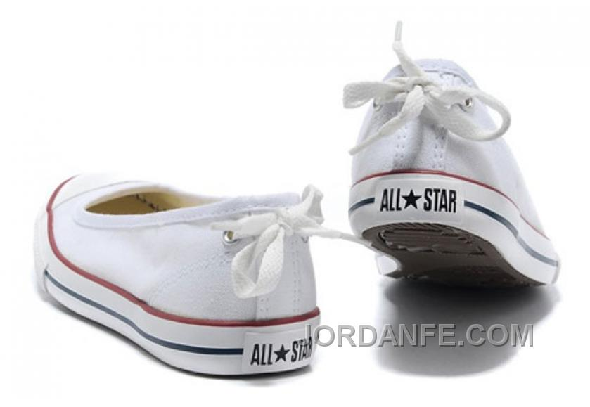 d25b02625df1 CONVERSE All Star Light Summer White Ballet Flats Dainty Ballerina Canvas  Ladies Shoes Cheap To Buy