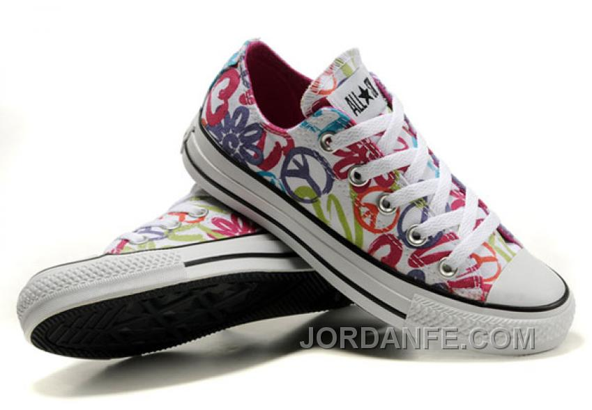 63a56c5b08bf CONVERSE All Star Peace And Love White Canvas Shoes Women Lastest ...