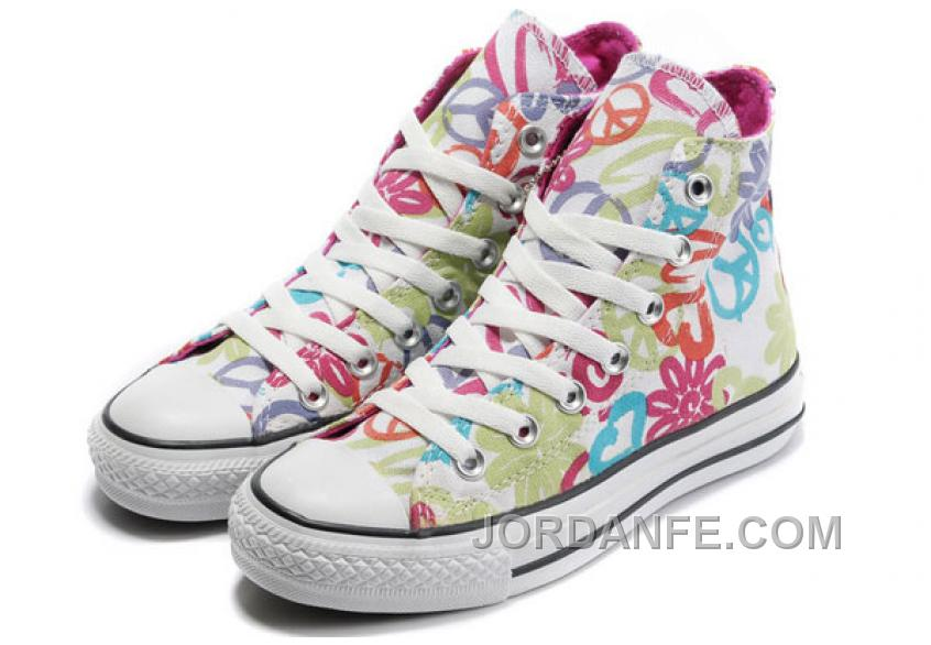 fab852c045be Womens CONVERSE All Star Peace And Love White Canvas Shoes Cheap To ...
