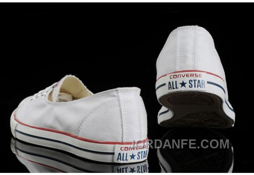 c4bdcf39537fb3 New White CONVERSE Ballet Flats Dainty Ballerina Chuck Taylor All Star  Summer Traning Shoes For Ladies