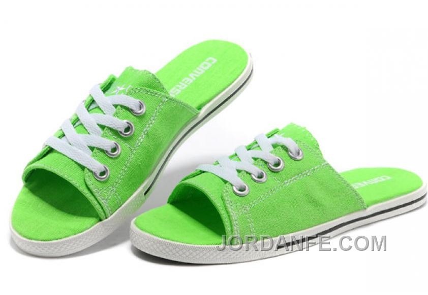 65a3fd9bab94 Green CONVERSE Slippers All Star Light Summer Collection By Avril Lavigne  Canvas Online