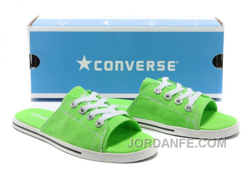 4408f6254c1775 Green CONVERSE Slippers All Star Light Summer Collection By Avril Lavigne  Canvas Online