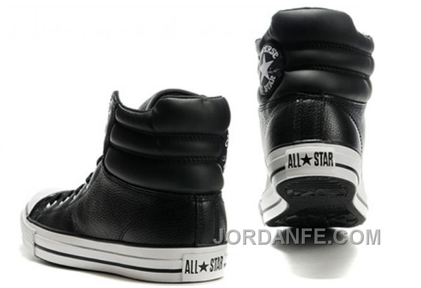 f91076d0ba7c New Embroidery Black Leather CONVERSE Padded Collar Chuck Taylor All Star  Winter Boots Discount