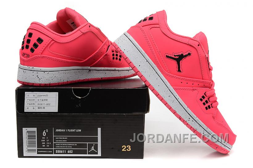 Girls Air Jordan 1 Low Pink Black Shoes For Sale Online