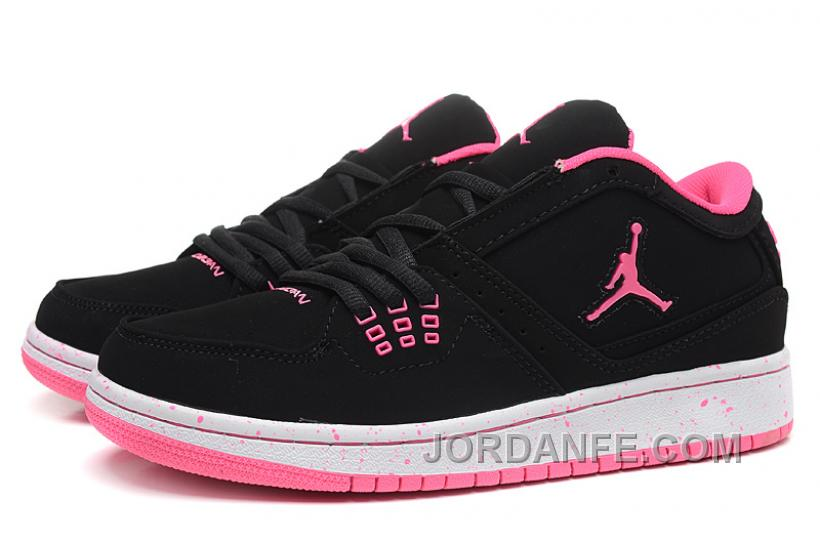 fdf84832065 Girls Air Jordan 1 Low Black Pink Shoes For Sale Free Shipping ...