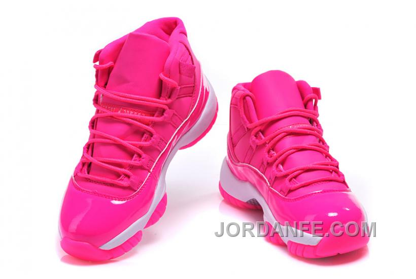 "a12eabcf72189 2016 Girls Air Jordan 11 ""Pink Everything"" Pink White Shoes For Sale Online  Free"
