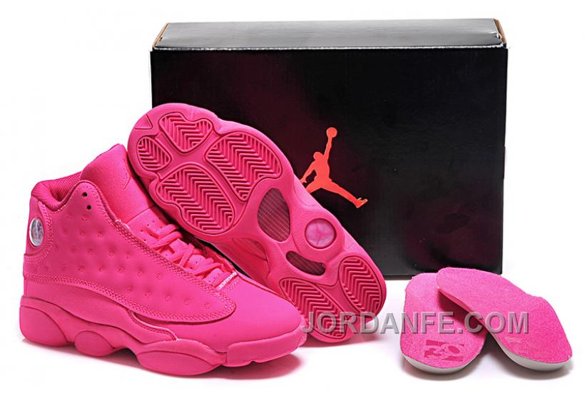 3ddab4bf5364 Girls Air Jordan 13 All-Pink Shoes For Sale Online Top