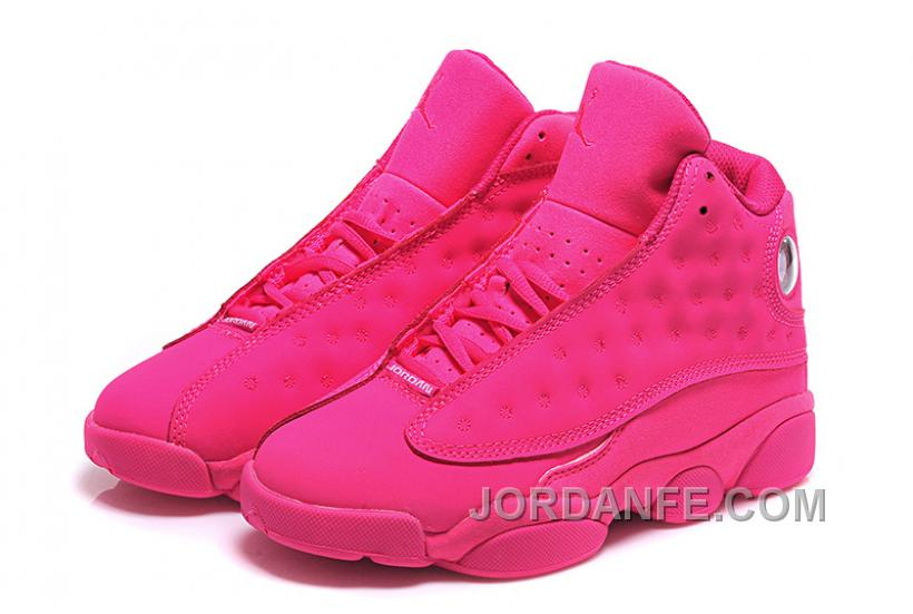 cf6a5a092dc Girls Air Jordan 13 All-Pink Shoes For Sale Online Top 55087