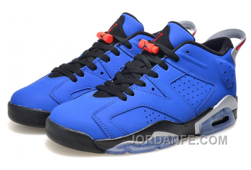 "21753d8c9039c6 Girls Air Jordan 6 Low ""Eminem"" Blue Black Grey For Sale Hot"