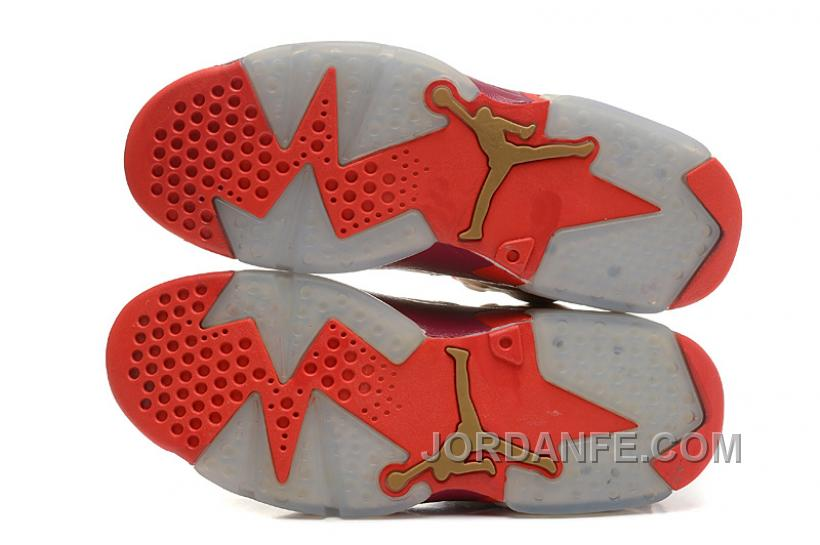 the latest 08f5b e7061 Air Jordans 6 Retro Metal Gold Deep Red-Varsity Red For Sale Xmas Deals