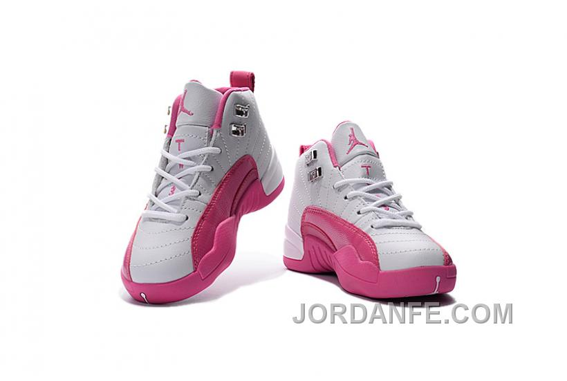 58f9c5f28 Kids Jordan 12 Shoes Valentine s Day Dynamic Pink For Sale Free Shipping