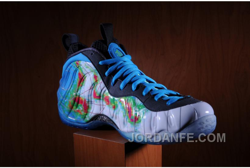 "cozy fresh d52e7 06df6 Nike Air Foamposite One ""Weatherman"" White Modern Blue-Flash Yellow-Green"
