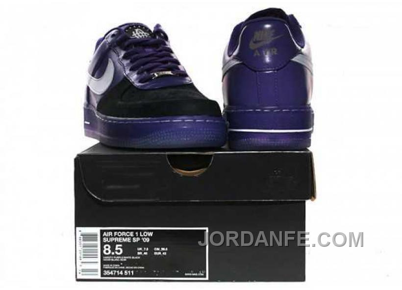 d7cbb3f089113 Nike Air Force 1 Low Mens Black Purple Lastest