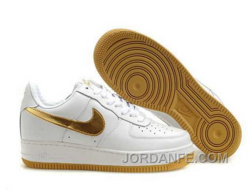 e5ff449ff52d Nike Air Force 1 Low Mens Gold White Black Friday Deals