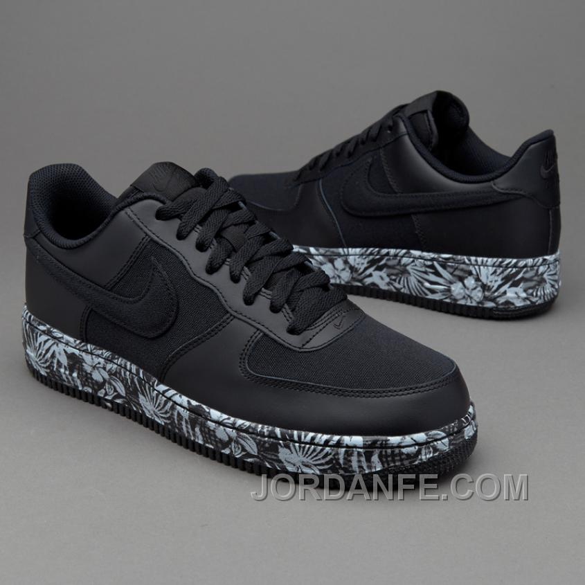 new product 7e822 97a99 2016 Nike Air Force 1 820266-007 Black Print Flower Sneaker Women men Cheap