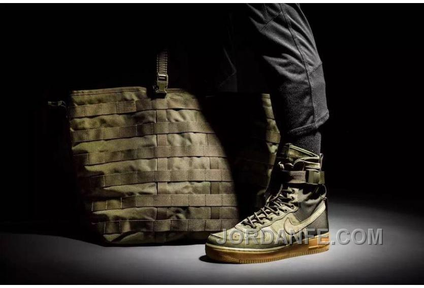 timeless design b0598 62f26 Nike Special Forces Air Force 1 Boots Faded Olive Faded 859202-339 Olive  Green