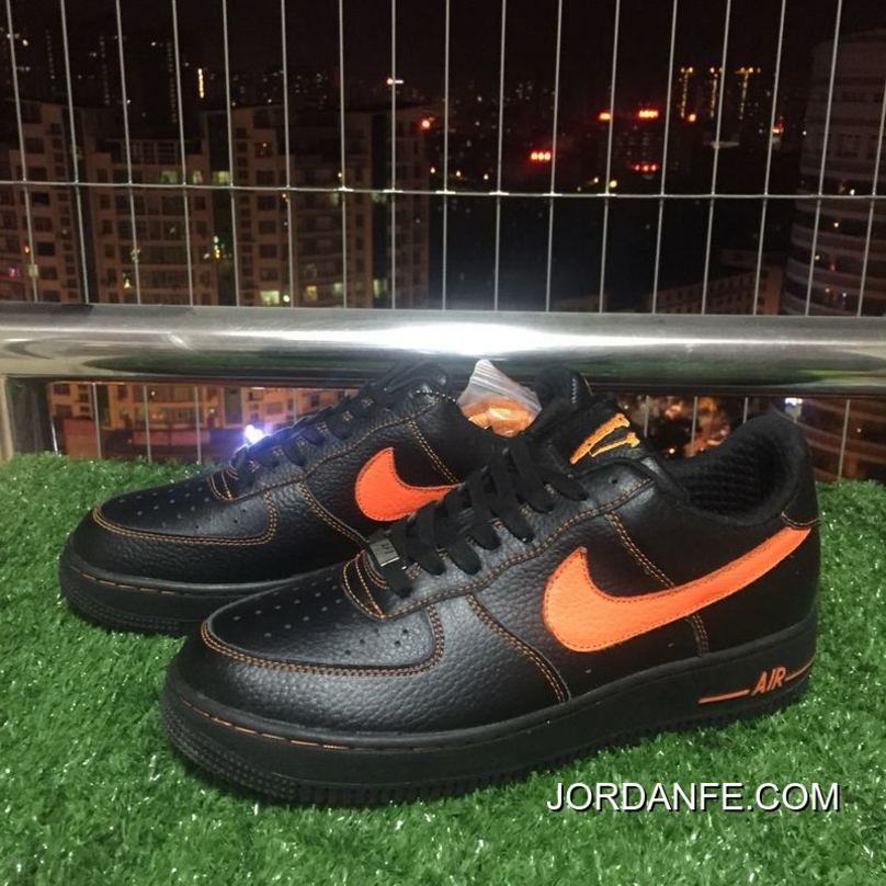 official photos fe8b7 def14 2018 Latest Nike Af1 Vlone Air Force 1 Black Orange Chen One Limited Aa5360- 001